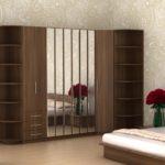 шкаф-гармошка корпусный с зеркалами