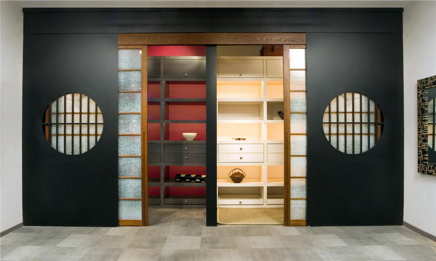 красивый шкаф в японском стиле