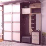 мебель в прихожую в сереневых цветах