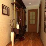 узкий коридор в прихожей комнате