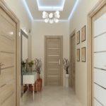 светлая прихожая комната с узким коридором