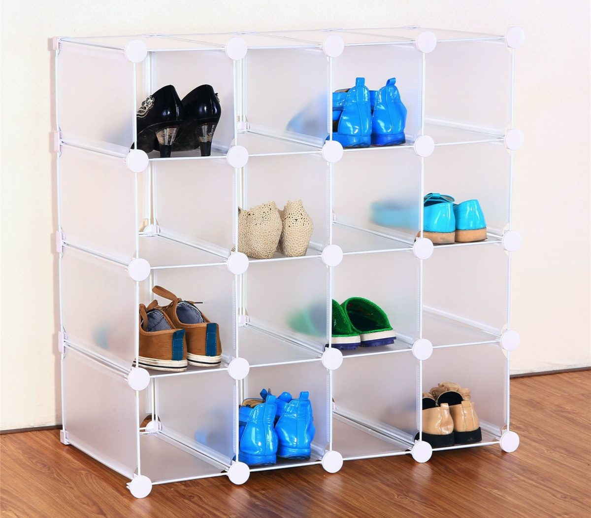 Фото полки для обуви из пластика