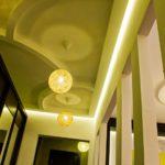 зеленый интерьер потолка