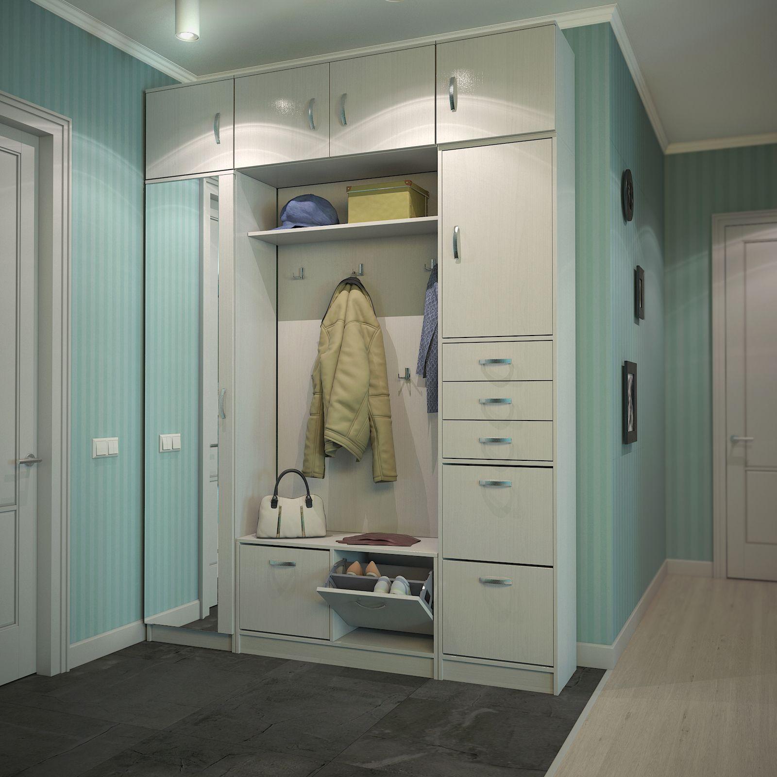 удобный шкаф с антресолью