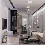 серый и белый в интерьере стиля минимализм