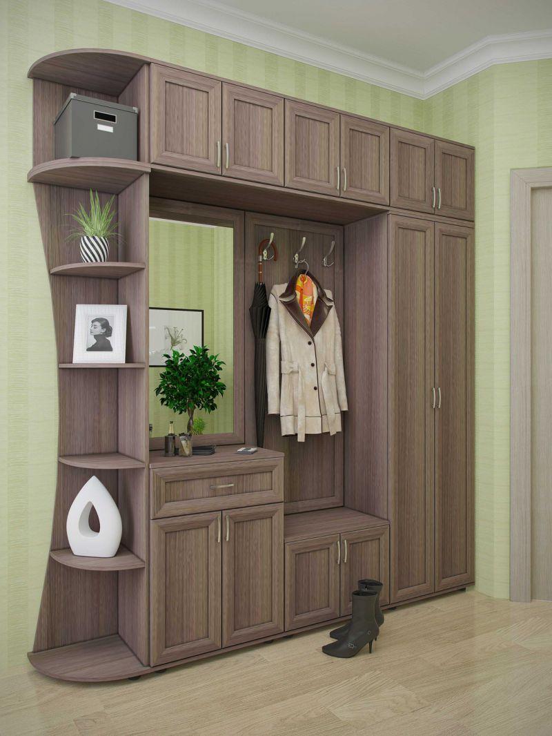 шкаф в прихожей из панелей