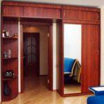 шкаф-перегородка с распашной дверью