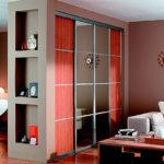 шкаф-перегородка в современном стиле