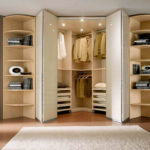 шкаф-гармошка в стиле хай тек