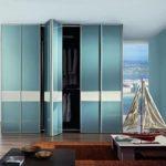 шкаф-гармошка цвета морской волны