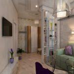 ламинат в квартире студии