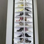 угловая высокая обувница