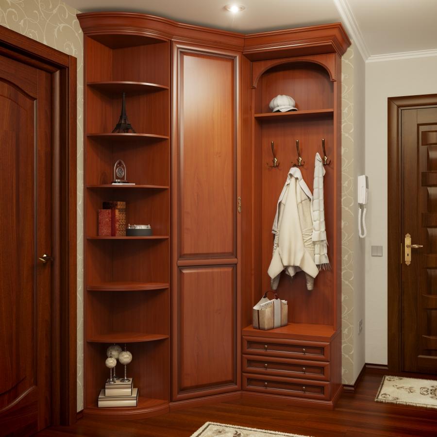 угловой шкаф в коридоре