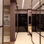 зеркальный коридор в прихожей