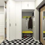 контрастная мебель в коридоре