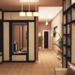 Мебель для просторного коридора в бежевых цветах
