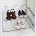 Навесная металлическая полка для обуви