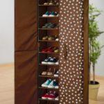 Оригинальный шкаф для обуви в прихожую.