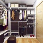 Пример планировки гардеробной