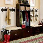 Вешалка для верхней одежды с банкеткой