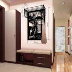 Встроеная мебель в узком коридоре