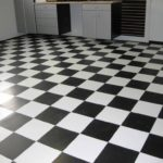 черно-белая плитка под линолеум