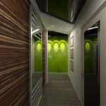 дизайн узкого коридора с зеркалом