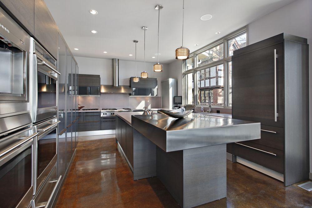 кухня под металлический тон