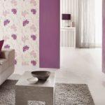 комбинированные фиолетовых обоев