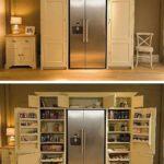 компактный шкаф с холодильником
