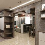 лофт дизайн квартиры студии