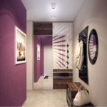 Мебель в фиолетовый коридор