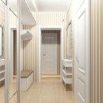 Мебель в узкий светлый коридор