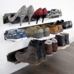 Настенная полка для обуви своими руками