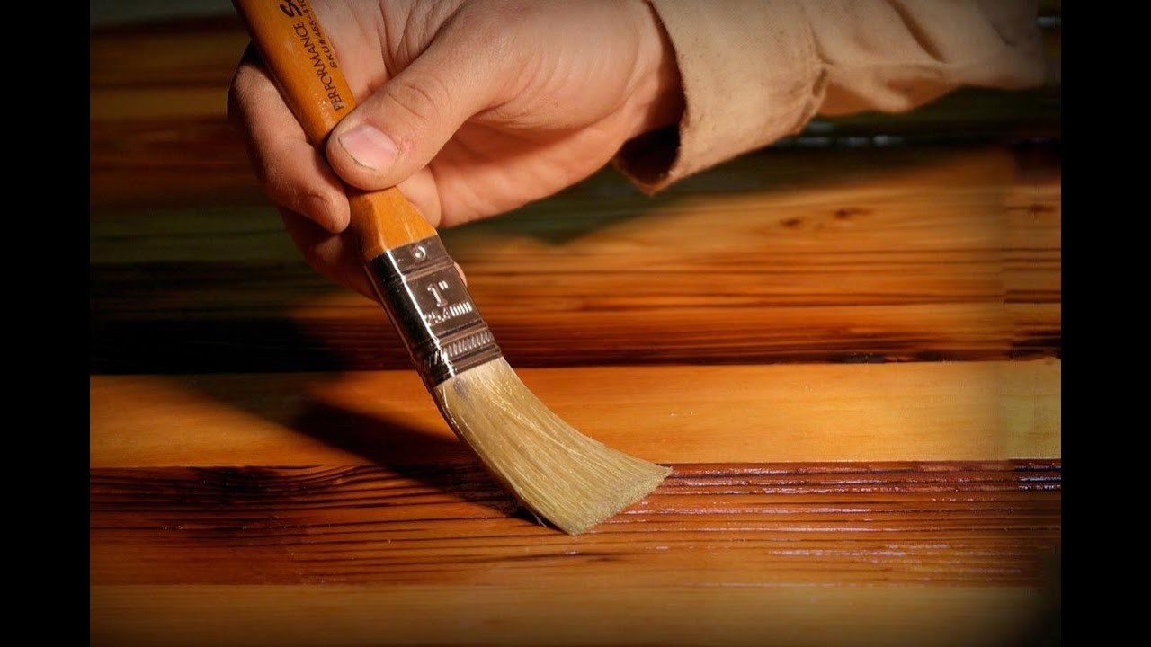 Покраска деревянных профилей