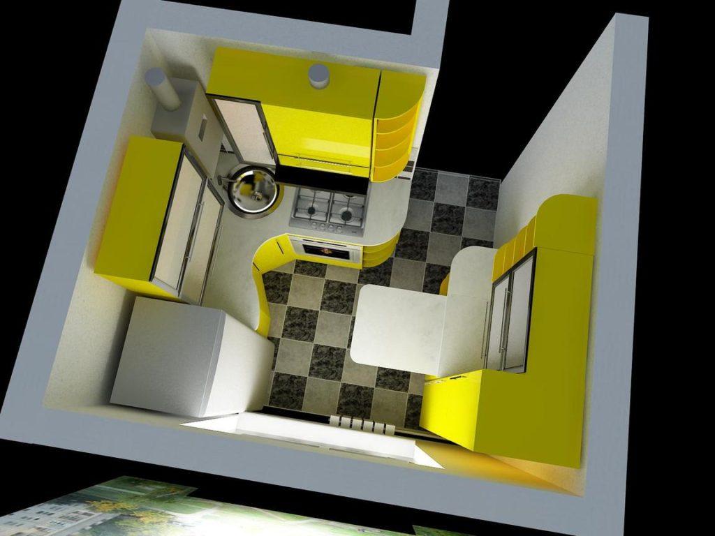 правильная расстановка мебели в маленькой кухне