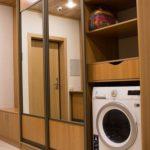 стиральная машинка в прихожей стиля прованс