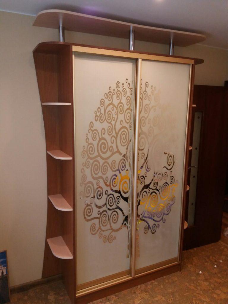техника амальгама на шкафу
