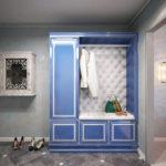 Фото гардеробной синего цвета