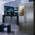 современный холодильник в доме