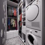 стиральная машинка в гардеробной