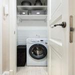 стиральная машинка в светлом стиле