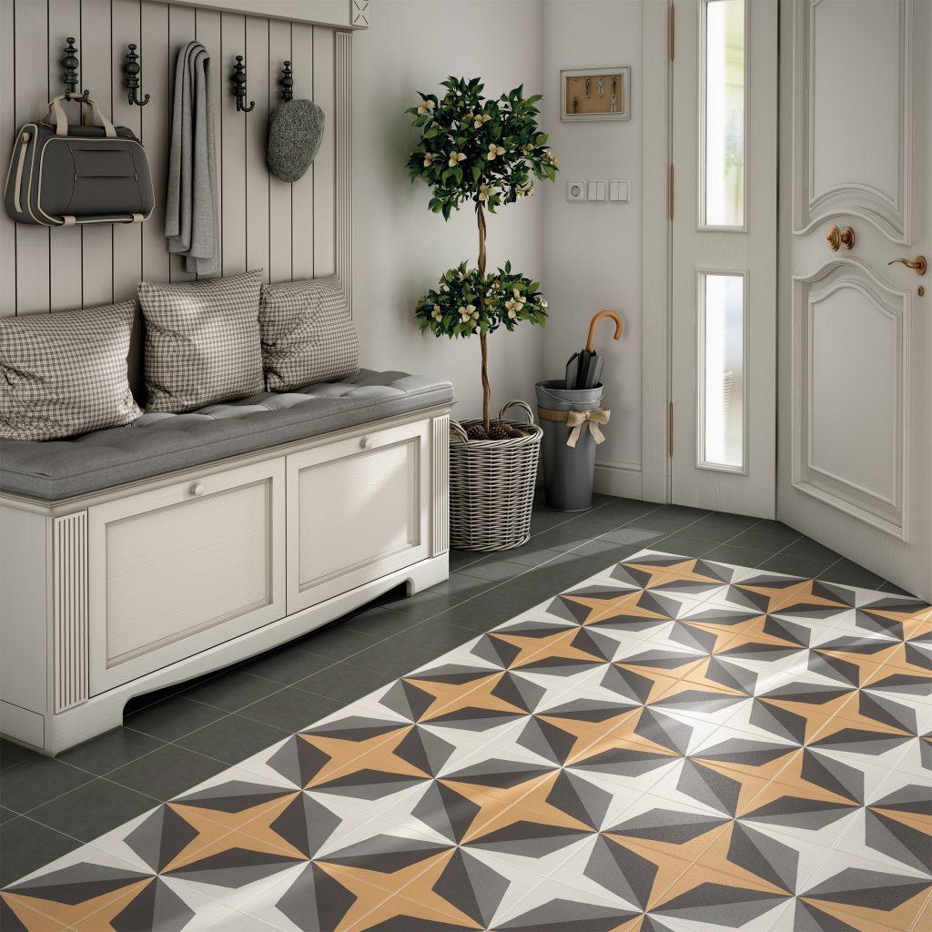 плитка на полу в частном доме
