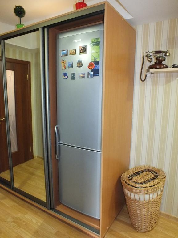 Встроенный холодильник в шкафу