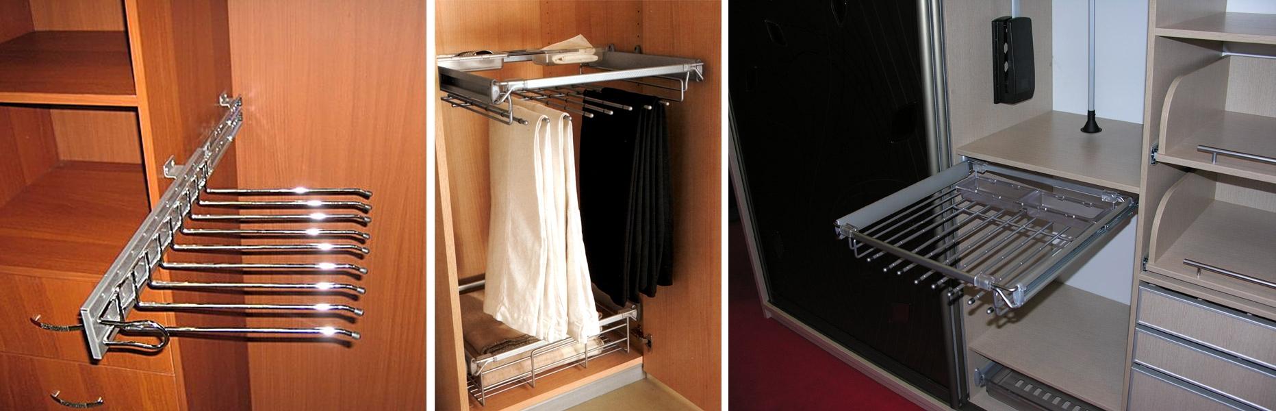 фото выдвижных вешалок для шкафа в прихожую