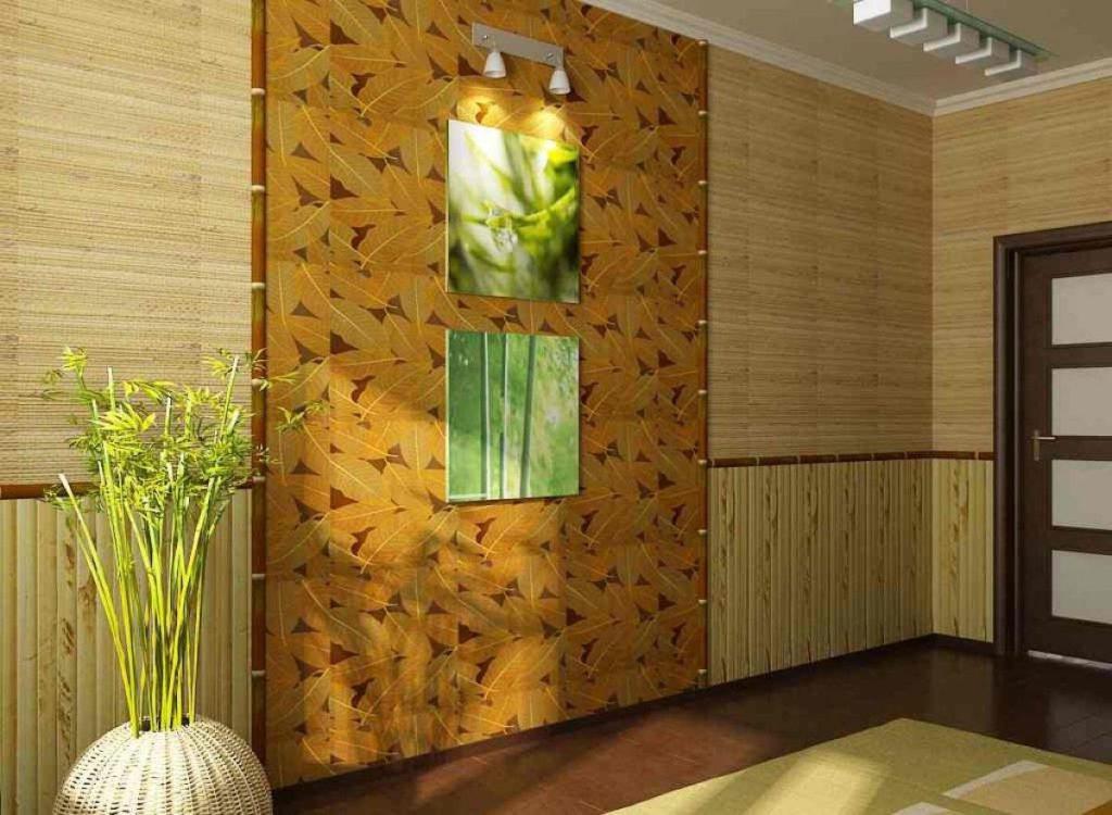 фото бамбукового полотна для стен