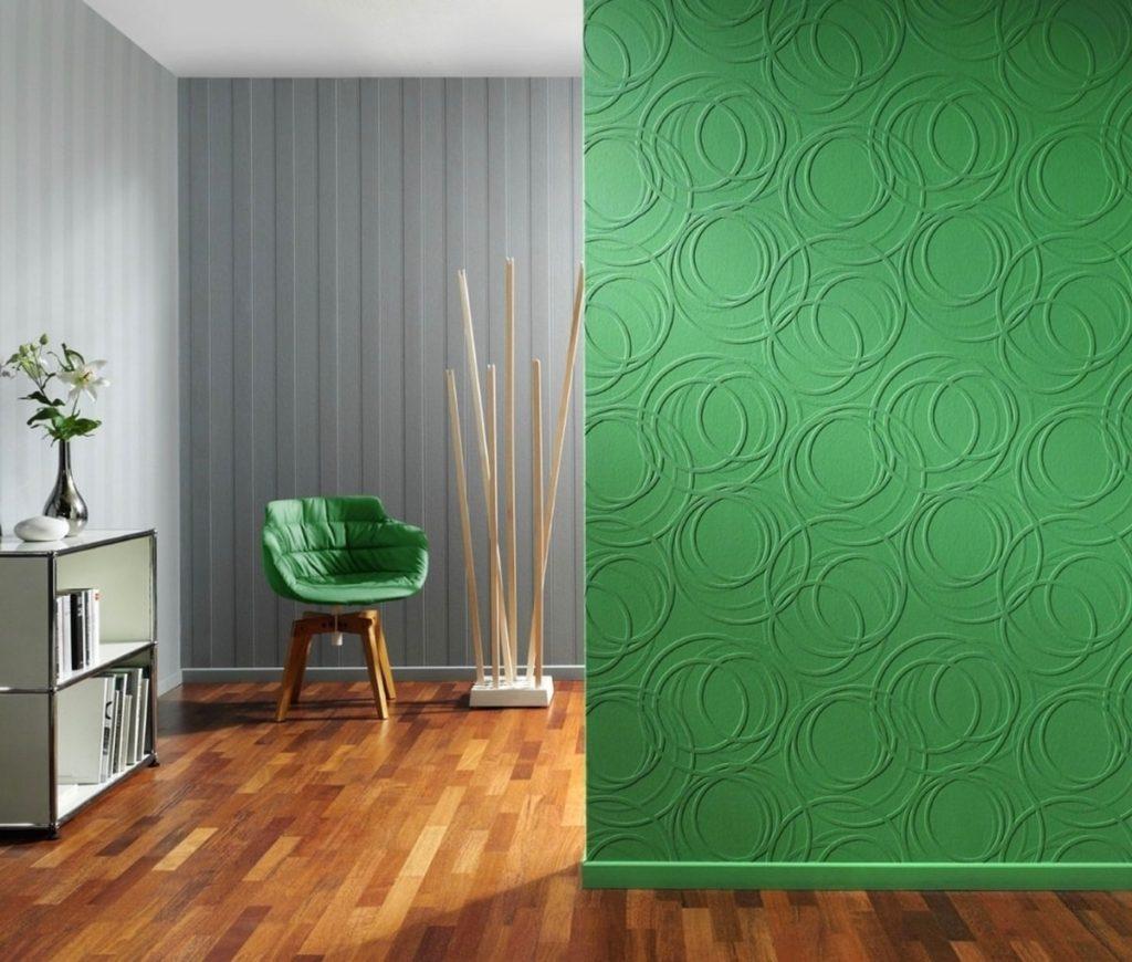 зеленные флизелиновые моющееся обои