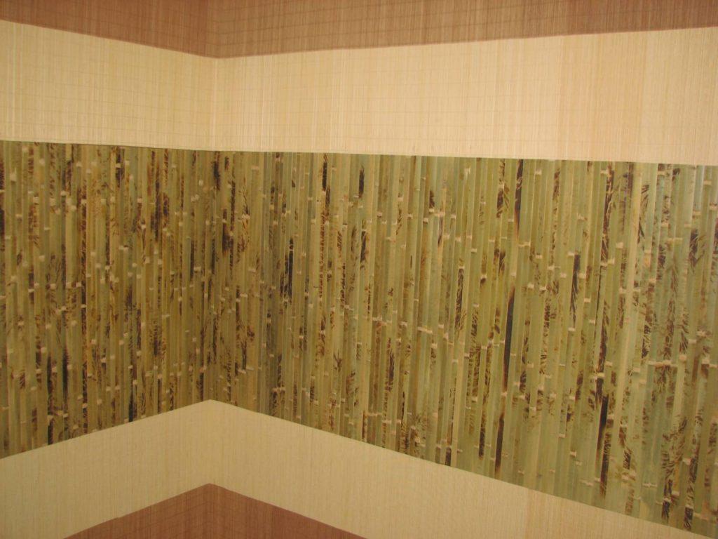 бамбуковое полотно в прихожей