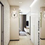 белый коридор в прихожей