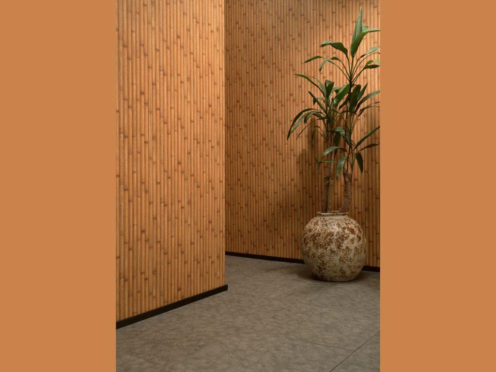 бамбуковые обои в прихожую